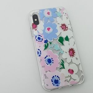 NIB kate spade Jeweled DaisyGarden clear iPhone X